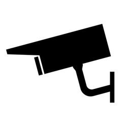 Video surveillance the black color icon vector