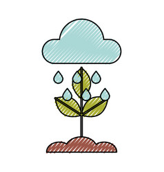 Weather cloud rainy isolated icon vector