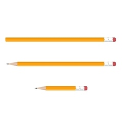 Yellow pencils set on white background vector