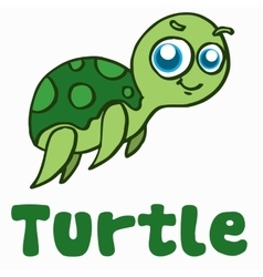 Cartoon turtle for t-shirt design vector image