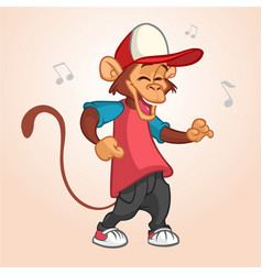 cool monkey rapper character in modern clothes vector image vector image