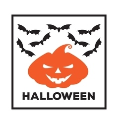 emblem or poster for a holiday Halloween vector image vector image