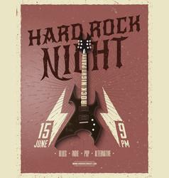hard rock night party flyer vector image vector image