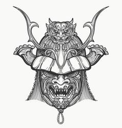 japan samurai mask vector image