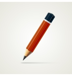 Realistic detailed sharpened pencil isolated on vector image vector image