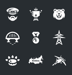 set of russia icons vector image
