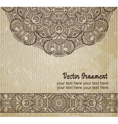 thnic vintage ornament background vector image vector image