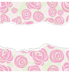 torn paper rose pattern seamless vector image vector image