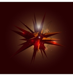 Abstract 3D Crystal Shape in Space vector image vector image