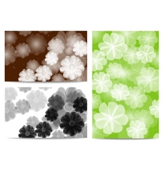 abstract flora background vector image vector image