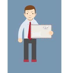 Businessman delivering mail vector image