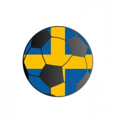flag of Sweden and soccer ball vector image vector image