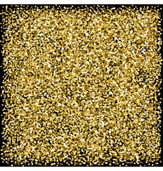 Gold sparkles glitter texture Black background vector image