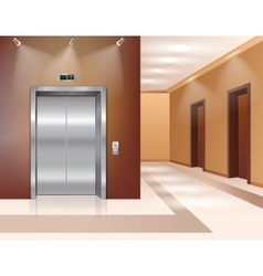 Hall with elevator vector image