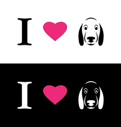 I love dogs symbolic message vector image