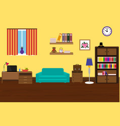 interior modern and stylish room with a sofa vector image