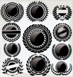 Set of vintage retro black and white labels vector image vector image
