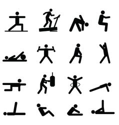 Training pictograms vector image vector image
