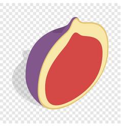 half of fig fruit isometric icon vector image