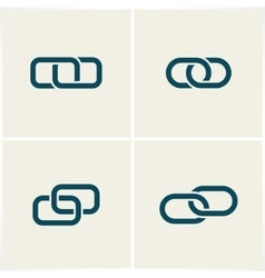 links and chains vector image vector image