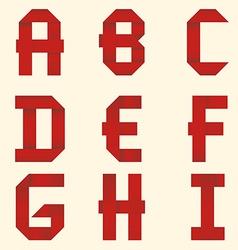 Ribbon red Alphabet vector image