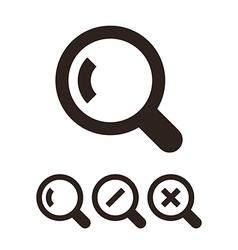 Search icon set vector