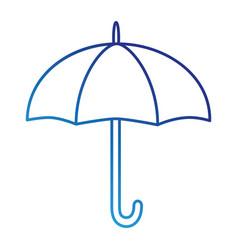 umbrella silhouette isolated icon vector image vector image