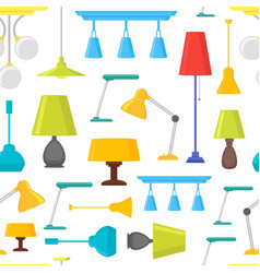 cartoon home illumination lamp background pattern vector image vector image