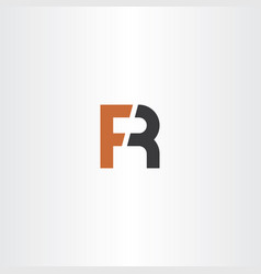 Letter f and r logo fr icon vector