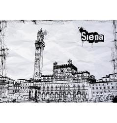 Siena City Hall on Piazza del Campo vector image vector image