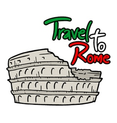 Travel to Rome message vector image