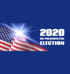 2020 us presidential election banner template vector image