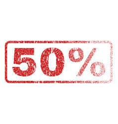 50 percent rubber stamp vector