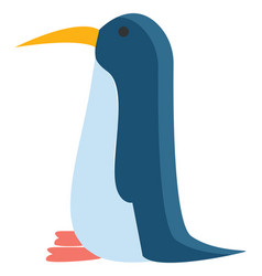 A blue penguin or color vector