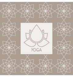 Abstract Lotus Flower Yoga Studio Design Card vector