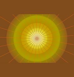 abstract yellow circular background vector image