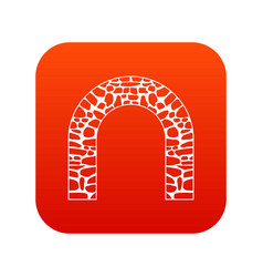 arch icon digital red vector image