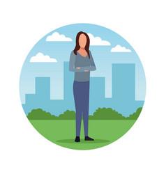 avatar woman cartoons vector image