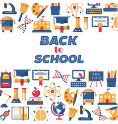 back to school colorful pattern vector image