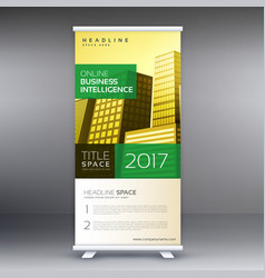 Banner roll up standee design business concept vector