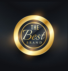 Best brand golden label and badge design vector