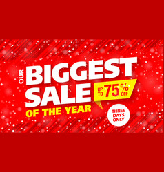 Biggest sale of the year banner vector