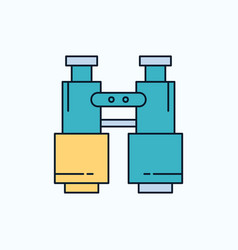 Binoculars find search explore camping flat icon vector