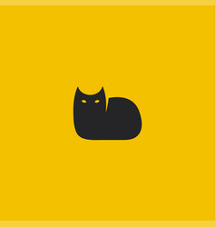 black cat logo template vector image