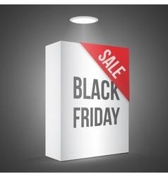 Black Friday Sale White Carton Box Template vector image