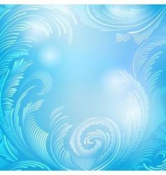 Blue frame background with frost vector