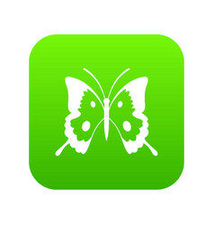 Butterfly icon digital green vector