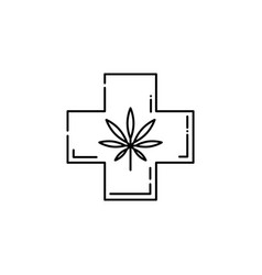 cannabis in cross legalization health care vector image