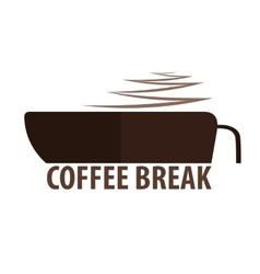 Coffee logo kitchen coffee vector