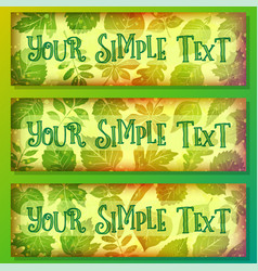 color tags with leaves vector image